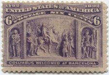 Buy 1893 6c Columbus Welcomed at Barcelona 1492-1892 Columbian Never Used