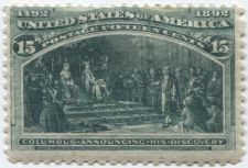 Buy 1893 15c Columbus Announcing His Discovery 1492-1892 Columbian Unused Hinged