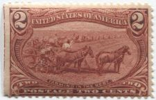 Buy 1898 2c Farming in the West Good Unused Sheet Edge Left Vertical Line