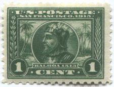 "Buy 1914 1c Balboa Perf 10 Green ""Thin C"" San Francisco, 1913 Commemorative"