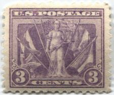 Buy 1919 3c Victory Issue WWI Mint Never Hinged, upper left corner lightly clipped