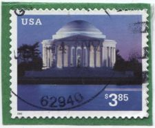 Buy 2002 $3.85 Priority Mail Used lightly cancelled Stamp good on piece condition