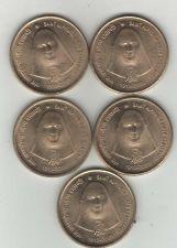 Buy Lot of 5 - SAINT ALFONSA - 5 RUPEE INDIA COINS - UNC -