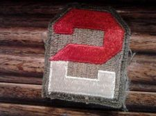 Buy WORLD WAR II ERA PATCH UNITED STATES 2nd ARMY RED & WHITE