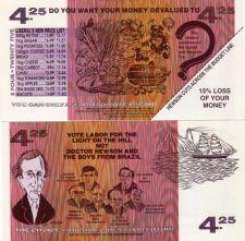 Buy AUSTRALIA 1990's Seamans Union $4.25 Anti-Liberal Party UNC