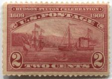 Buy 1909 2c Hudson-Fulton Celebration Half Moon and Clermont Ships, Canoe Mint LH