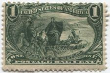 Buy 1898 1c Marquette on Mississippi Trans-Mississippi stamp Rare! CV Mint $50+