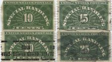 Buy 1925 Special Handling Set of 4 Used Stamps Grand Rapids, Mich. Precancel