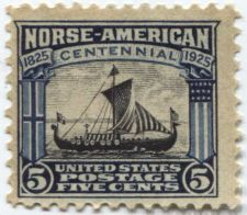 Buy 1925 5c Viking Ship Norse-American Centennial 1825-1925 Mint NH