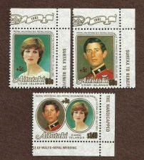Buy AITUTAKI 1981 ROYAL WEDDING ALL 3 STAMPS