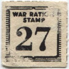 Buy War Ration Stamp WWII 27 Handwriting on reverse Coffee?