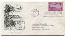 Buy 1952 c46 80c Air Mail First Day of Issue Artmaster Cover Honolulu, Hawaii