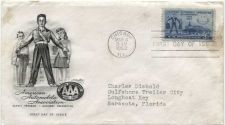 Buy 1952 3c AAA 50th Anniversary First Day of Issue Addressed March, 4 Chicago, Ill.