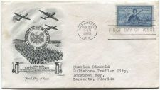 Buy 1952 3c National Guard First Day of Issue Addressed Feb, 23 Washington, DC