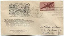 Buy 1941 15c Air Mail American Philatelic Society Convention Fort McHenry Cachet