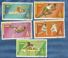 Buy Upper Volta Toga 1975-80 5 Varieties Olypics Stamps
