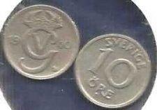 Buy 1940 & 1946 Sweden 10 ORE Coins