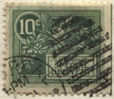 Buy 1908 10c Green Special Delivery Stamp Good Used, Cancel Previously Hinged VF