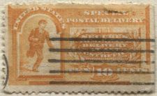 Buy 1893 10c Orange Special Delivery Stamp Good Used, Cancel Previously Hinged