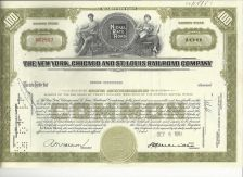Buy THE NEW YORK, CHICAGO AND ST. LOUIS RAILROAD COMPANY STOCK CERTIFICATE