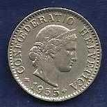 Buy 1955 Switzerland 5 Rappen - HIGH QUALITY