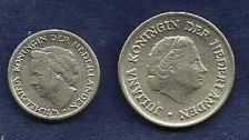 Buy Netherlands 25 Cents (1950) and 10 Cents (1946)