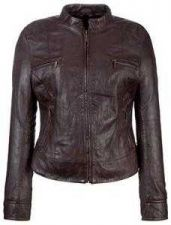 Buy BRAND NEW WOMEN'S FASHIONABLE AND ELEGANT BROWN LEATHER JACKET GENUINE LEATHER