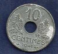 Buy France 10 Centimes 1941