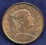 Buy Mexico 5 Centavos 1965