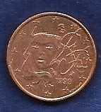 Buy FRANCE 1999 1 EURO CENT~HUMAN FACE~