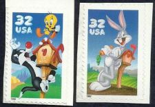Buy Two (2) US Disney Stamps Bugs Bunney Tweety Bird