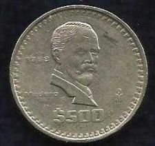 Buy MEXICO 500 PESOS 1988 SCARCE DATE