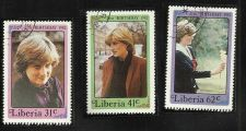 Buy Liberia 1982 Diana, Princess of Wales, 21st Birthday Set MNH