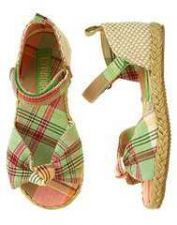 Buy Gymboree Coral Reef Madras Espadrille Sandals-Sz 2-NWT