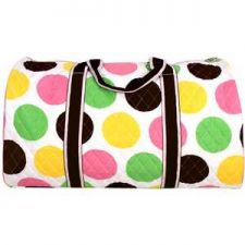 """Buy 21"""" Lollipop Drops Quilted Duffle Bag with Brown Trim-NWT"""