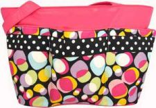 Buy Front Pocket Diaper Bag in Bubble Print-FUCHSIA-NWT