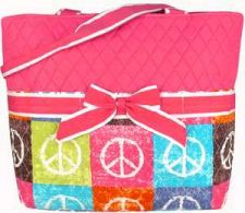 Buy Peace Out Quilted Diaper Bag-PINK-NWT