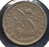 Buy Portugal 2.50 Escudo Coin 1980