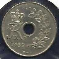 Buy Denmark 25 Ore 1969