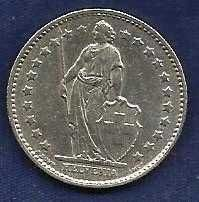 Buy Switzerland 1978 - 1 Franc Copper-Nickel Coin - Standing Helvetia with lance and shie