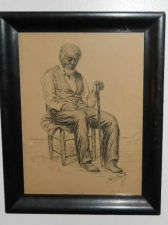 Buy Man in Chair With Pipe