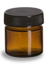 Buy .85 oz. (25ml) Amber Round Glass Salve Jar with Black Plastic Screw Top