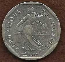 Buy FRANCE FRENCH 2 FRANC1982 LARGE COIN - KM942