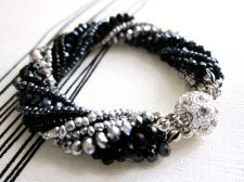 Buy Twisted Black Blue Swarovski Crystal Bracelet