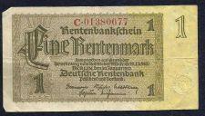 Buy GERMANY Eine (1) Rentenmark 1923 NOTE C01380677