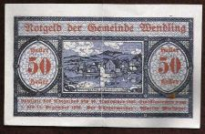 Buy #5709 WENTLING Austria 1920 Notgeld 50 Heller