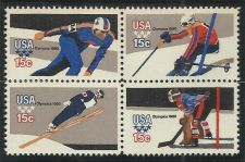 Buy 1980 Commemoratives Olympic Skater Scott's 1795-1798 Plate block of 4 Mint sta