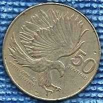 Buy PHILIPPINES Republic 50 Sentimos 1984 K&K#H0274 Monkey Eating Eagle