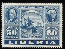 Buy Liberia 50 Cents 1947 Airmail