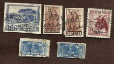 Buy South Africa Lot of 6 Stamps Used